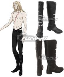 Castlevania Season 2 2018 Anime Alucard Black Shoes Cosplay Boots