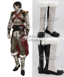 Castlevania Season 2 2018 Anime Trevor Belmont Morningstar Black White Shoes Cosplay Boots
