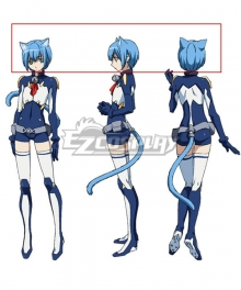 Cat Planet Cuties Asobi ni Iku Yo! Melwin Blue Cosplay Wig