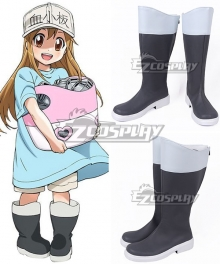 Cells At Work Platelet Black White Shoes Cosplay Boots