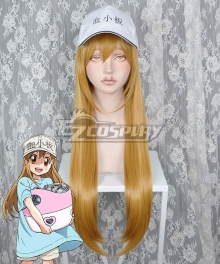 Cells At Work Platelet Brown Cosplay Wig