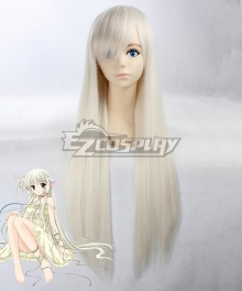 Chobits Chii White Cosplay Wig