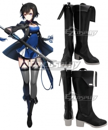 Closers Online Bai Winchester Black Shoes Cosplay Boots