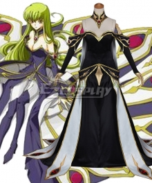 Code Geass C.C. Black Queen Dress Cosplay Costume