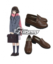 Noragami Aragoto Iki Hiyori Brown Cosplay Shoes