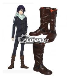 Noragami Aragoto Yato Brown Shoes Cosplay Boots