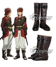 Sword Art Online Klein Ryotaro Tsuboi Brown Shoes Cosplay Boots