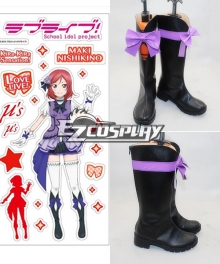Love Live2 KiRa KiRa Sensation! Nishikino Maki Cosplay Shoes