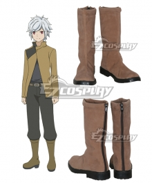 DanMachi Is It Wrong to Try to Pick Up Girls in a Dungeon? Bell Cranel Brown Shoes Cosplay Boots - B Edition