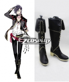 Touken Ranbu Akashi Kuniyuki Black Cosplay Shoes