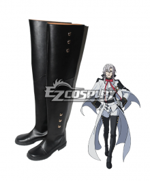 Seraph of the End Owari no Serafu Vampire Reign Ferid Bathory Ferido Batori Flat Black Shoes Cosplay Boots