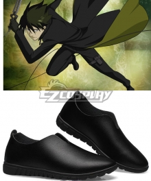 Darker Than Black Hei The Black Reaper Li Shunsheng Lee Hyunsik Cosplay Flat Black Shoes