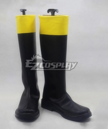 Gintama Fusako Okita Sougo Black Shoes Cosplay Boots