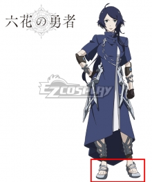 Rokka Braves of the Six Flowers Rokka no Yusha Maura Chester Mora Chesuta Gray Cosplay Shoes