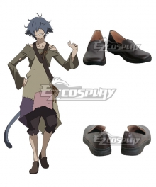 Rokka Braves of the Six Flowers Rokka no Yusha Hans Humpty Hansu Hanputi Brown Cosplay Shoes