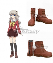 Charlotte Nao Tomori Brown Cosplay Shoes