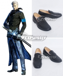 DmC Devil May Cry 5 Vergil Black Cosplay Shoes