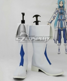 Sword Art Online Excalibur Asuna White Shoes Cosplay Boots