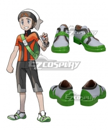 Pokemon Pocket Monster: ORAS Brendan Cosplay Shoes