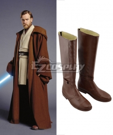 Star Wars Cosplay Shoes Jedi Knight Obi-Wan For Adult's Brown Shoes Cosplay Boots