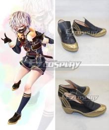 Touken Ranbu Online Nakigitsune Tantou Black Cosplay Shoes