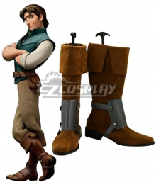 Disney Tangled Prince Flynn Rider Cosplay Boots