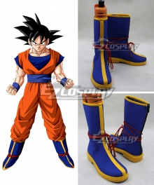 Dragon Ball Son Goku Kakarotto Blue Shoes Cosplay Boots