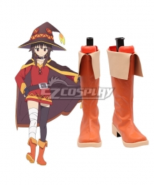 Kono Subarashii Sekai ni Shukufuku o Megumin Orange Shoes Cosplay Boots
