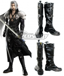 Final Fantasy VII FF7 Sephiroth Black Shoes Cosplay Boots