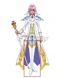 Go! Princess PreCure Prince Kanata White Shoes Cosplay Boots