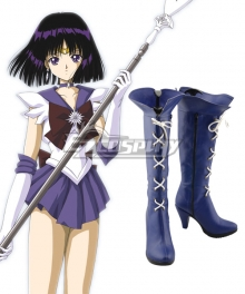 Sailor Moon Sailor Saturn Tomoe Hotaru Saturn Blue purple Shoes Cosplay Boots
