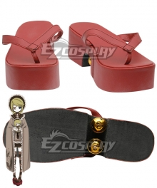 Vocaloid Thousand Cherry Tree Kagamine Rin Red Cosplay Shoes