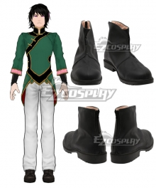 RWBY Lie Ren New Version Black Cosplay Shoes