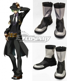 BlazBlue Hazama Black Cosplay Shoes Boots