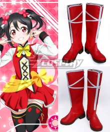 Love Live! Lovelive! School Idol Festival Sunny Day Song Nico Yazawa Red Shoes Cosplay Boots