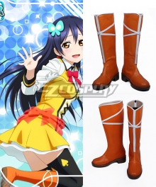 Love Live! Lovelive! School Idol Festival Sunny Day Song Umi Sonoda Orange Shoes Cosplay Boots