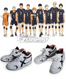 Haikyu!! Karasuno High School's Volleyball Club White Cosplay Shoes