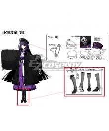 XBlaze Code Embryo Mei Amanohokosaka Black Shoes Cosplay Boots - A Edition