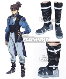 Kabaneri of the Iron Fortress Kurusu Blue Shoes Cosplay Boots