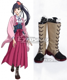 Kabaneri of the Iron Fortress Ayame Brown Shoes Cosplay Boots