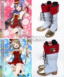 Love Live! Lovelive! Standard Bearer Kotori Minami Umi Sonoda White Shoes Cosplay Boots