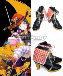 Love Live! Lovelive! Halloween Nozomi Tojo Black Cosplay Shoes