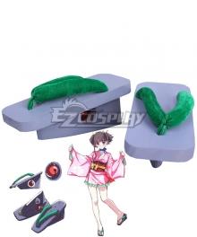 Kabaneri of the Iron Fortress Mumei Kimono Green Cosplay Shoes