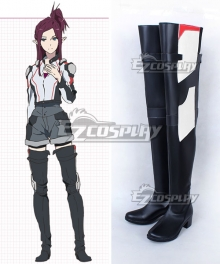 Macross Delta Macross Δ Mirage Farina Jenius Black Shoes Cosplay Boots