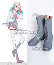 Aichuu Ichu Mutsuki Kururugi Gray Shoes Cosplay Boots