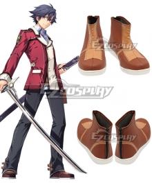 The Legend of Heroes: Sen No kiseki Rean Schwarzer Brown Cosplay Shoes