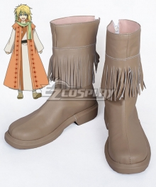 Akatsuki no Yona Yona of the Dawn Zeno Yellow Dragon Warrior Brown Shoes Cosplay Boot