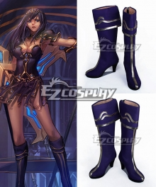 League of Legends LoL The Battle Mistress Sivir Purple Cosplay Shoes