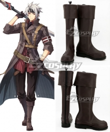 The Legend of Heroes Trails of Cold Steel Crow Armbrust Brown Shoes Cosplay Boots