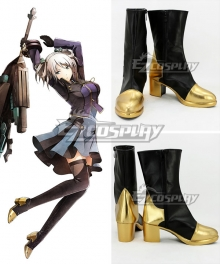 God Eater 2 Ciel Alencon Shieru Aranson Black Shoes Cosplay Boots